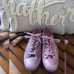 Rand New! Pink Glitter Sparkle Converse Sneakers